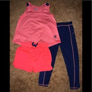 Other - Body Glove Toddler Girl 3 Piece Activewear Set